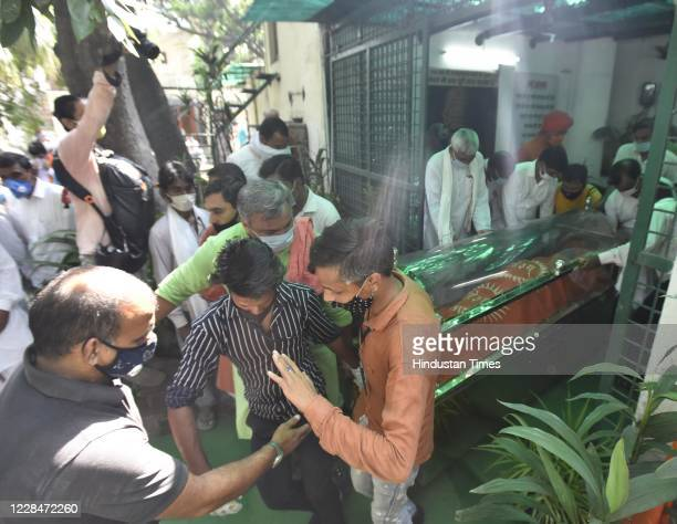 Followers of social activist Swami Agnivesh near his mortal remains Swami Agnivesh who was suffering from liver cirrhosis passed away on Friday at 7...