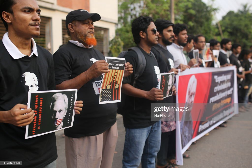 BGD: Protest Against Julian Assange Arrest In Dhaka