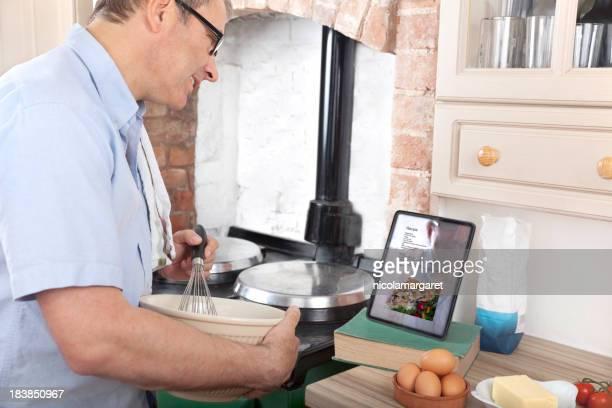 Following a recipe using digital tablet