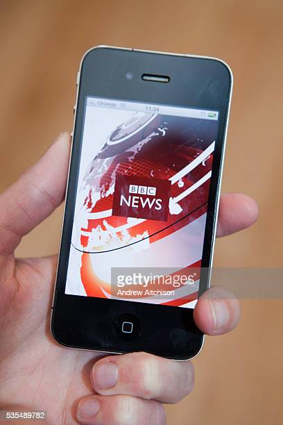 Following BBC news on a iphone 4 s mart phone connected to the internet