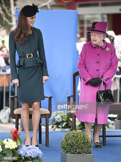 Following Lunch The Queen Accompanied By The Duke Of Edinburgh And The Duchess Of Cambridge Visit The Clock Tower In Leicester City Centre To Receive...