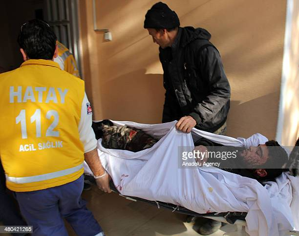 Following the clashes between Syrian regime and opposition for a Syrian town of Keseb 19 wounded people were brought to Turkey on March 25 2014...