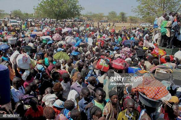 Following the coup attempt in South Sudan, crowds taking refuge at UN campus near the Juba airport on December 18, 2013.