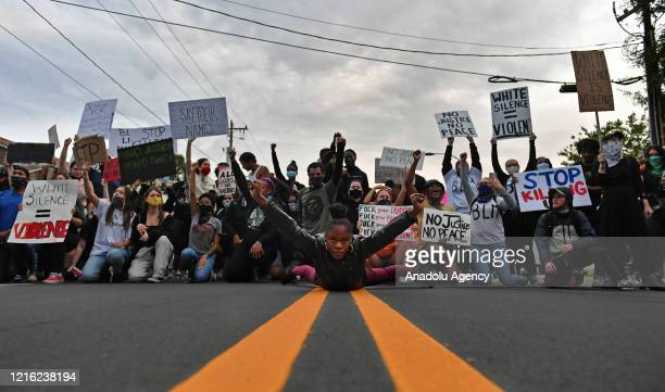 Following the death of George Floyd in Minneapolis, protest in Charlotte turn violent in NC, United States on May 29, 2020.