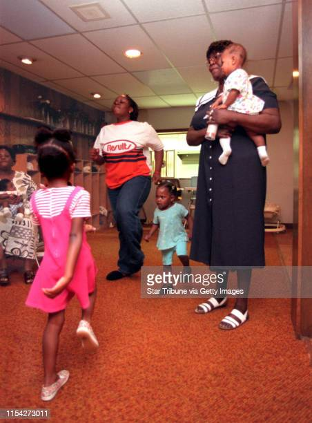 Following the Phillips community from welfare to work. -- Betty Oliver watches her daycare kids exercise in her Lots of Love Daycare in the Unity...
