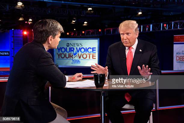 Following the Republican Presidential Debate, George Stephanopoulos interviews Donald Trump and Marco Rubio from St. Anselm College in Manchester,...