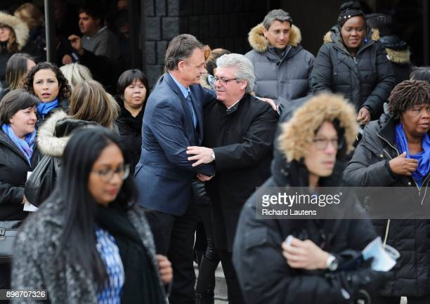 TORONTO ON DECEMBER 21 Following the service mourners leave the hall Thousands came out to the International Centre for the memorial for billionaires...