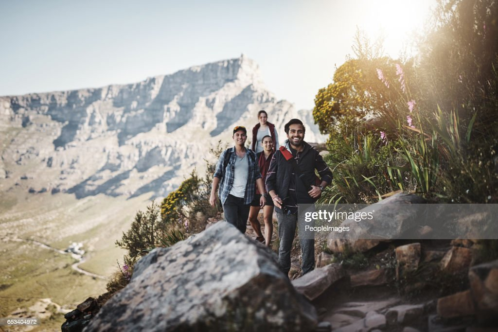 Following the trail : Stock Photo