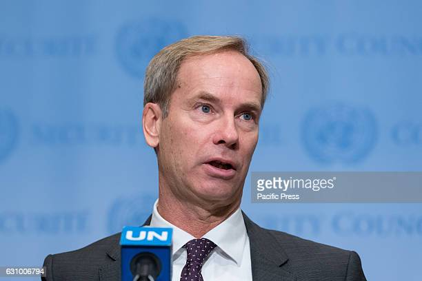 Following United Nations Security Consultations on the humanitarian situation in Iraq Council President for the month of January Swedish Ambassador...