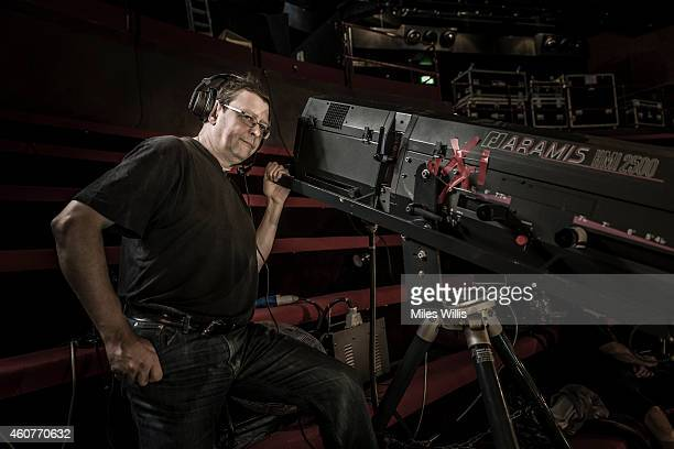 Followspot Operator Ishmael Skyes poses for a portrait in the gallery at the Hackney Empire on December 17 2014 in London England Hackney Empire is...
