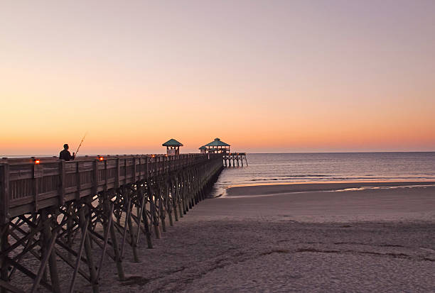 Folly Beach Pier before sunrise