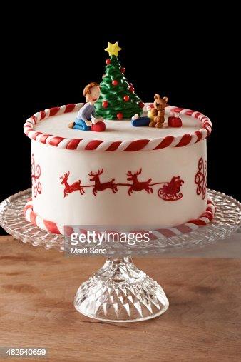 Fondant Christmas Tree Cake High Res Stock Photo Getty