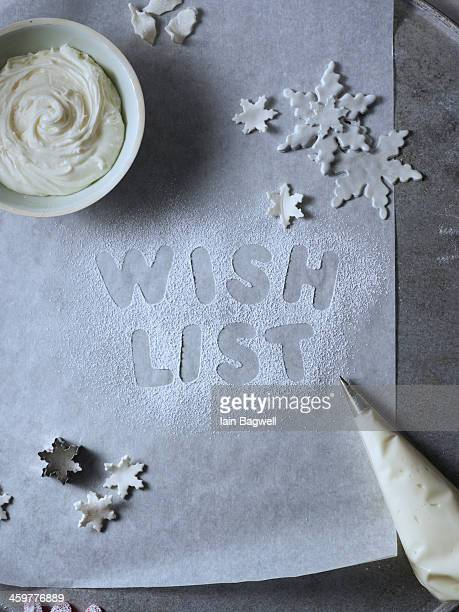 Fondant Snowflakes and holiday wish list