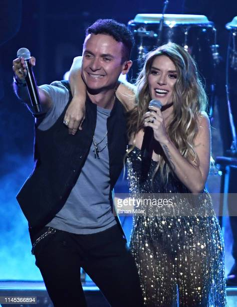 Fonseca and Kany Garcia perform during the 2019 Billboard Latin Music Awards at the Mandalay Bay Events Center on April 25 2019 in Las Vegas Nevada