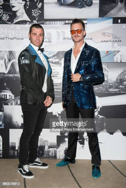 Fonsi Nieto and Aldo Comas attend the new Jaguar EPACE party on November 24 2017 in Madrid Spain