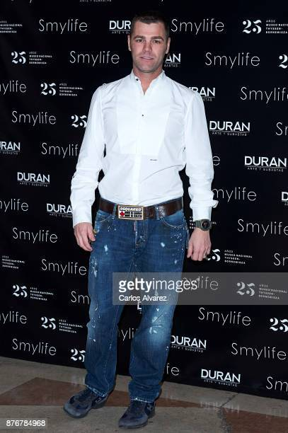 Fonsi Nieto attends the 'Smylife Collection Beauty Art III' presentation at the ThyssenBornemisza Museum on November 20 2017 in Madrid Spain