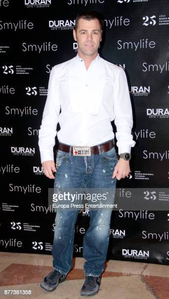 Fonsi Nieto attends the Smylife Collection Beauty Art III presentation at the ThyssenBornemisza Museum on November 20 2017 in Madrid Spain