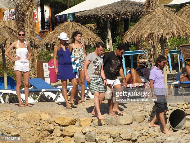 Fonsi Nieto Javier Hidalgo and Alba Carrillo six months pregnant are seen on June 20 2011 in Ibiza Spain