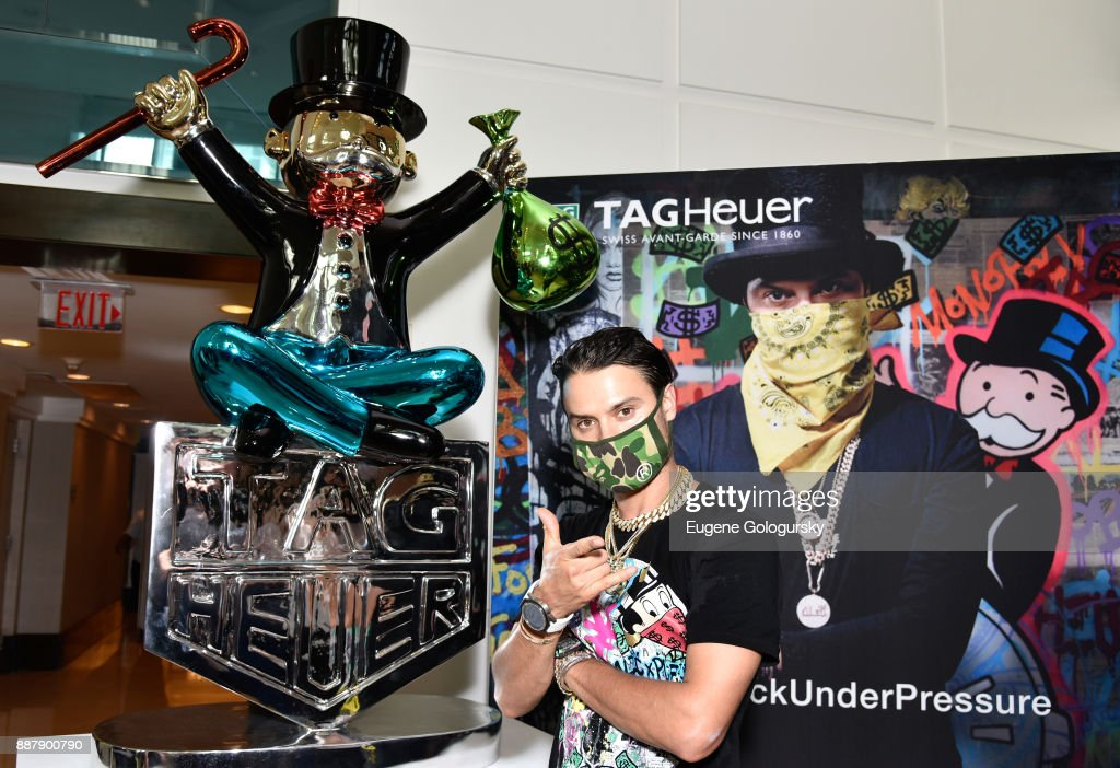 Fontainebleau Hotel Art Takeover With TAG Heuer Art Provocateur Alec Monopoly at Miami Design District on December 7, 2017 in Miami, Florida.