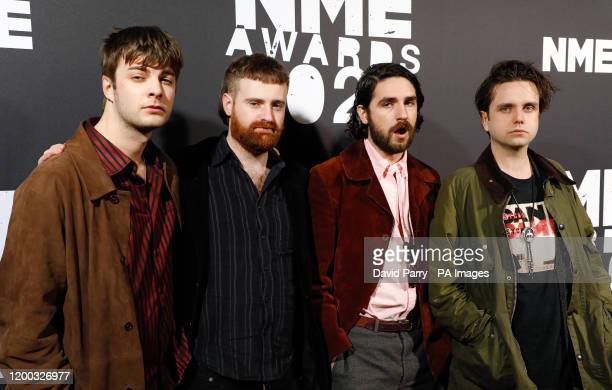 Fontaines DC arriving during the NME Awards, held at Brixton Academy, London.