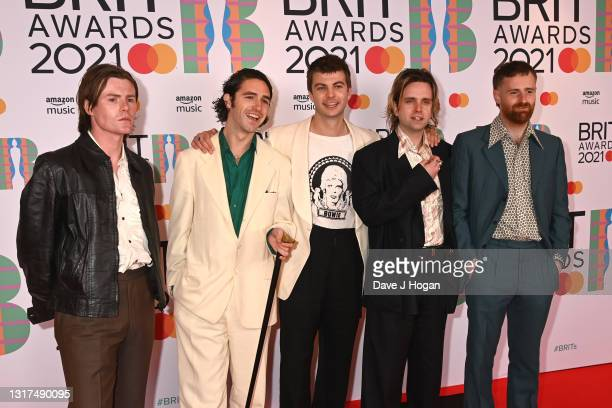 Fontaines DC attend The BRIT Awards 2021 at The O2 Arena on May 11, 2021 in London, England.
