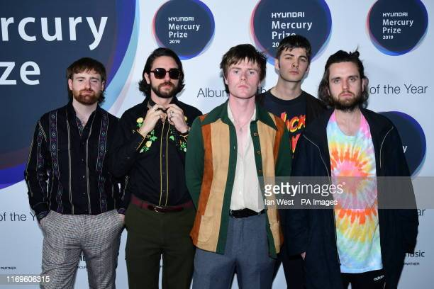 Fontaines DC during the Hyundai Mercury Prize 2019, held at the Eventim Apollo, London.