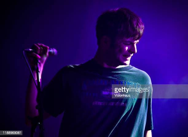 Fontaines DC Lead singer Grian Chatten performs with the band at the O2 Ritz on November 19, 2019 in Manchester, United Kingdom.
