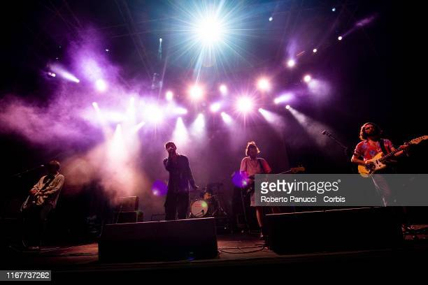 Fontaines D.C. Performs during Ypsigrock Festival at on August 11, 2019 in Castelbuono, Palermo , Italy.