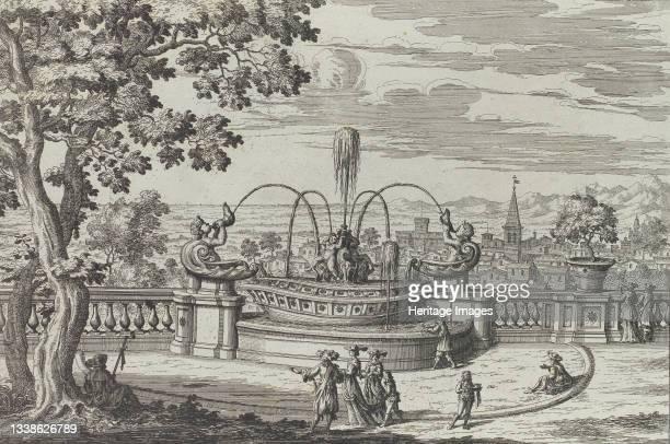 Fontana di Belvedere á Frascati, fabricata sopra il piano dell' antecedente di qva, e di lá, col medesimo disegno et architettura, 1691 or after....