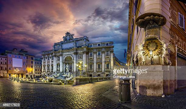 fontana di trevi (rome) - trevi fountain stock pictures, royalty-free photos & images