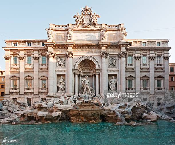 fontana di trevi, rome, italy - trevi fountain stock pictures, royalty-free photos & images