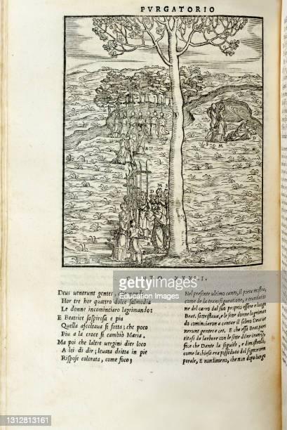 Fonte Avellana , monastery library. La Divina Commedia. The Divine Comedy printed in Venice in 1544 with illustrations by Francesco Marcolini and...