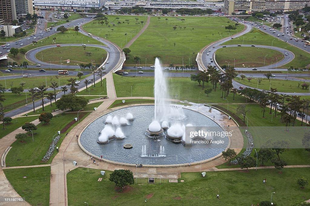 Fonte da Torre de TV - Brasília : Foto de stock