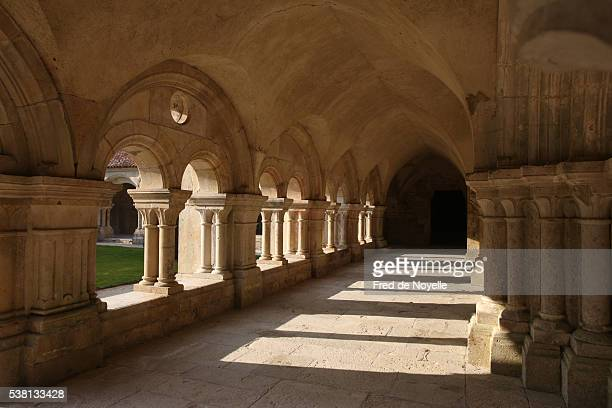 Fontenay abbey church cloister
