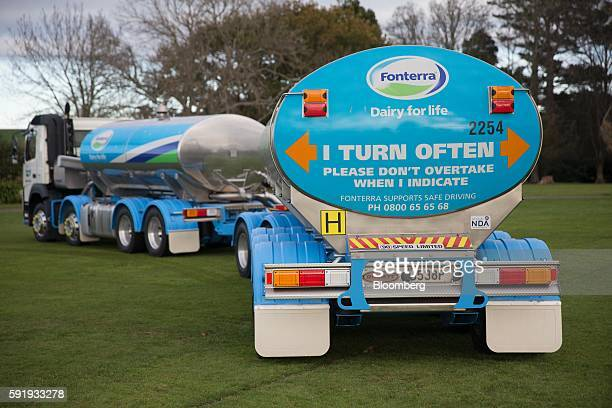 A Fonterra Cooperative Group Ltd milk tanker stands at a Fonterra factory in Eltham New Zealand on Thursday June 9 2016 Fonterra is the world's top...