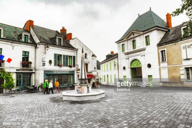 Fontevraud village square, Loire Valley, France