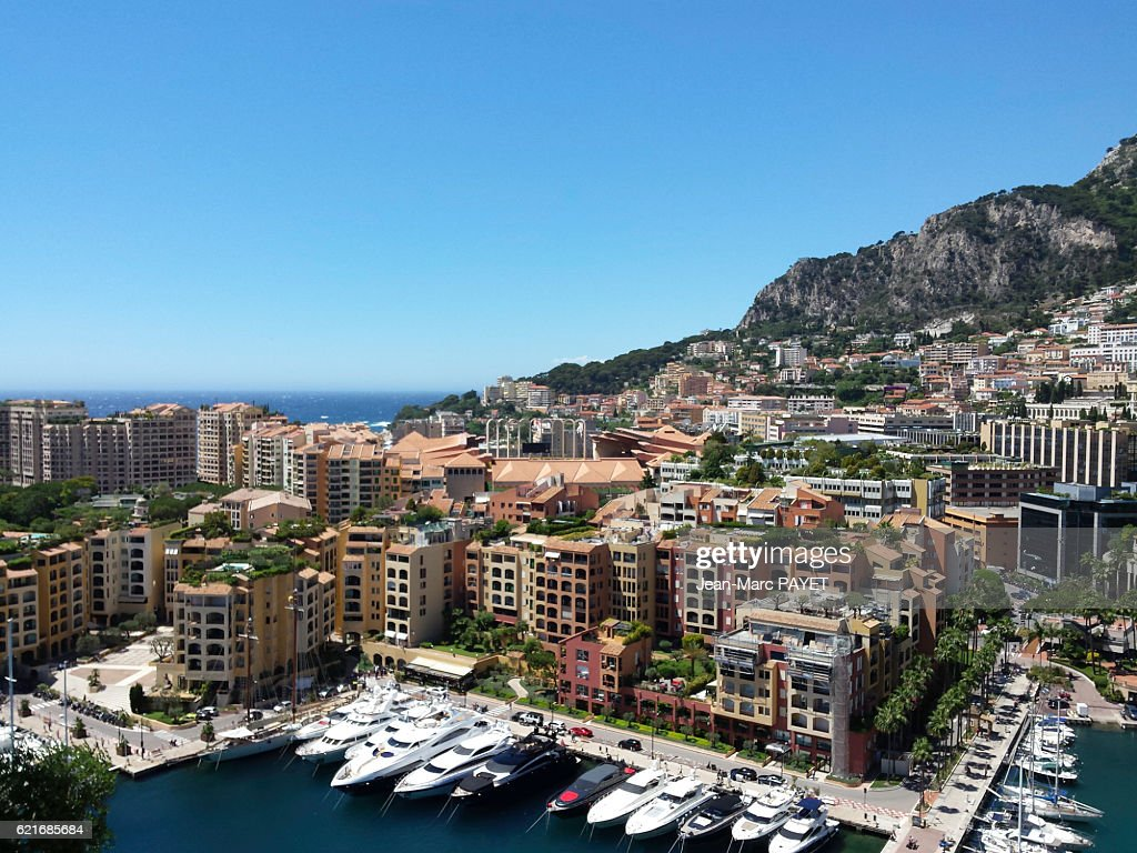 Fontvieille's harbor in Monaco : Photo