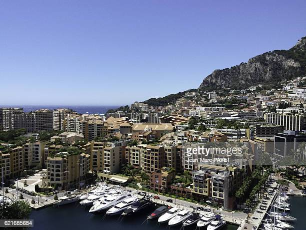 Fontvieille's harbor in Monaco