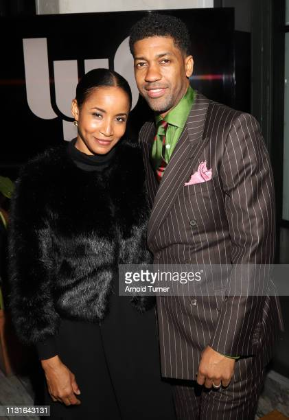 Fonzworth Bentley and Faune A Chambers attend Common's 5th Annual Toast to the Arts at Ysabel on February 22 2019 in West Hollywood California