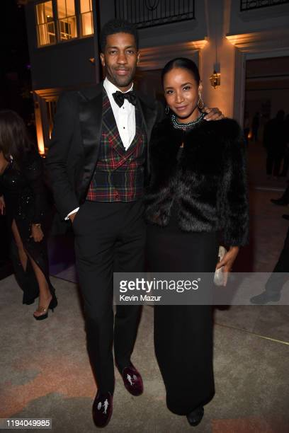 Fonzworth Bentley and Faune A Chambers attend Sean Combs 50th Birthday Bash presented by Ciroc Vodka on December 14 2019 in Los Angeles California