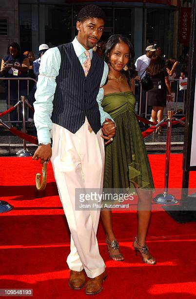 Fonzworth Bentley and Faune Chambers during 4th Annual BET Awards Arrivals at Kodak Theatre in Hollywood California United States