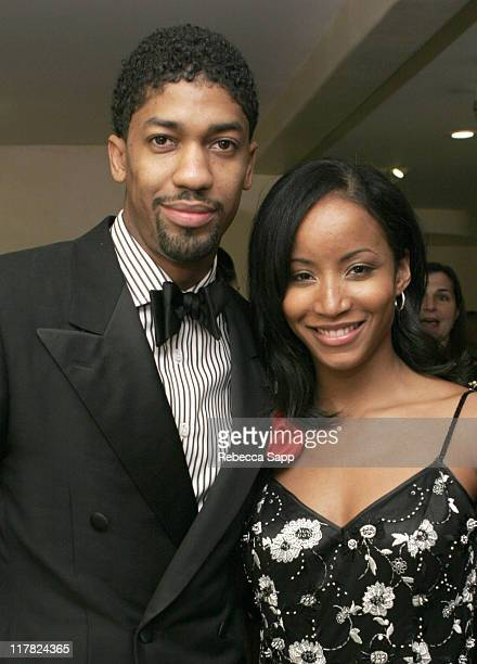 Fonzworth Bentley and Faune Chambers during Erica Courtney 5th Annual Oscar Party and 20th Anniversary Celebration Sponsored by Blavod and Godiva at...