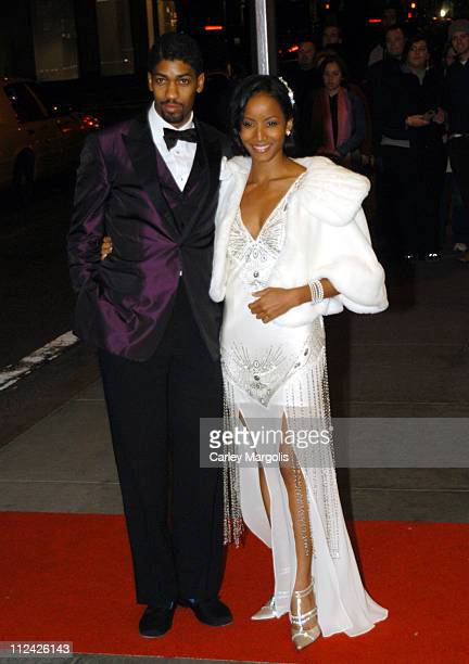 Fonzworth Bentley and Faune Chambers during Usher's 26th Birthday Party at Rainbow Room in New York City New York United States