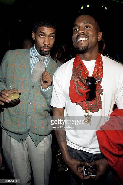 Fonzworth Bentley and Kanye West during Sprite Street Couture Showcase - Arrivals and Afterparty at Guastavino's in New York City, New York, United...