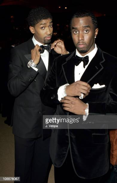Fonzworth Bentley and Sean P Diddy Combs during The 77th Annual Academy Awards Governors Ball at Kodak Theatre in Hollywood California United States