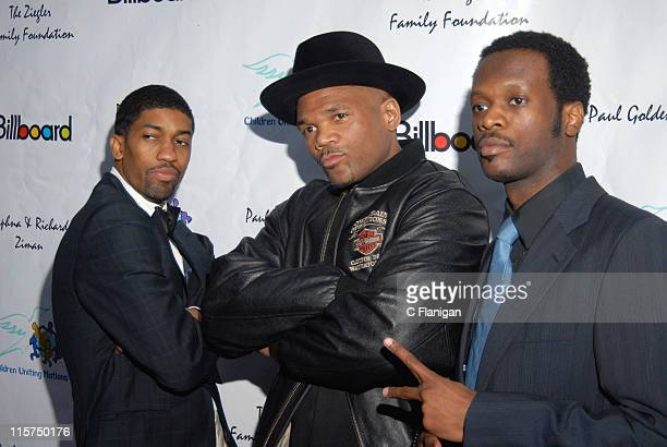 "Fonzworth Bentley, Darryl ""DMC"" McDaniels and Pras of The Fugees"