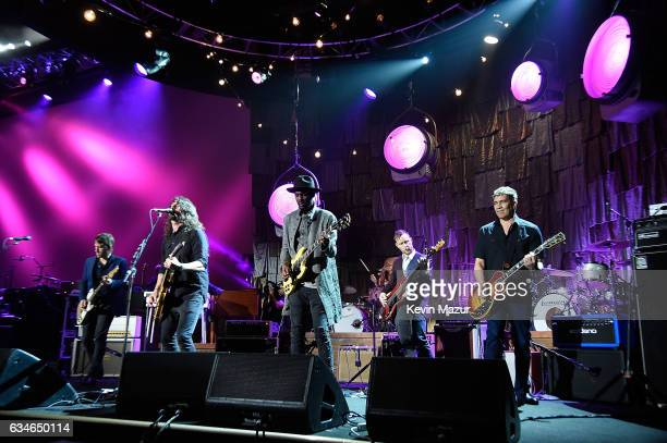 Foo Fighters and Gary Clark Jr perform onstage during MusiCares Person of the Year honoring Tom Petty at the Los Angeles Convention Center on...