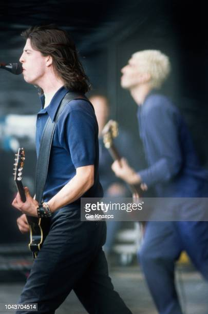 Foo Fighters, Dave Grohl, Pat Smear, Torhout/Werchter Festival, Torhout, Belgium, 5th July 1996.