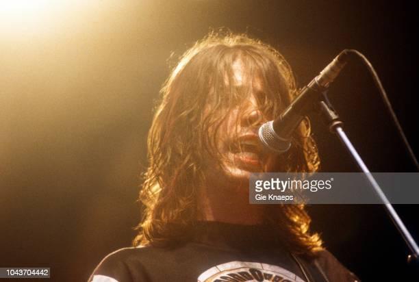 Foo Fighters, Dave Grohl, Pukkelpop Festival, Hasselt, Belgium, 25th August 1995.