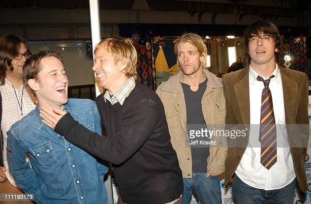 Foo Fighters during MTV European Music Awards 2002 at Palau Sant Jordi in Barcelona Spain